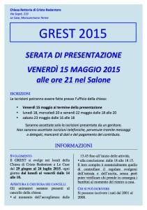 Grest 2015 - foglietto informativo internet