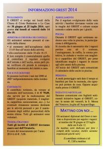 Grest 2014 - foglietto informativo web 2