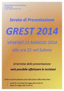 Grest 2014 - foglietto informativo web